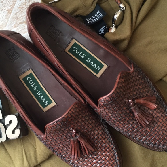 ea70c92ab3a Cole Haan Shoes - COLE HAAN Vintage Woven Leather Tassel Loafers